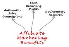 Teilnehmer-Marketing-Nutzen stock abbildung