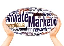 Teilnehmer-Marketing-Wortwolkenhandbereichkonzept stockfoto