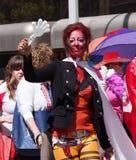 Teilnehmer an Pride Parade Edmonton 2013 Lizenzfreies Stockfoto