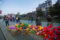 Teilnehmer-Sao-Joao Festival-Geburt von StJohn der populäre Feiertag Baptist Verys lizenzfreie stockfotos