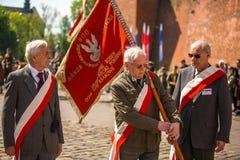 Teilnehmerjahrbuch des polnischen nationalen und gesetzlichen Feiertages der Konstitutions-Tag am 3. Mai Stockbild