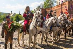 Teilnehmerjahrbuch des polnischen nationalen und gesetzlichen Feiertages der Konstitutions-Tag am 3. Mai Lizenzfreie Stockfotografie