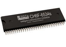 Teilprüfer der integrierten Schaltung oder des Computers der neuen Technologien des Mikrochips lizenzfreies stockfoto