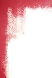 Teils gemalte weiße Wand lizenzfreie stockfotos