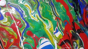 Teilweise Ansicht der abstrakten Malerei stockfotos