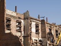 Teilweise demoliertes Gebäude Stockbild