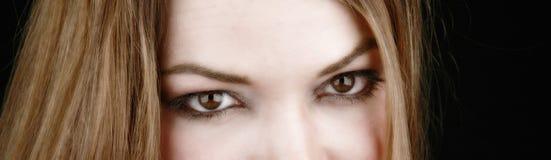 Teilweise Frau face-2 stockfotos