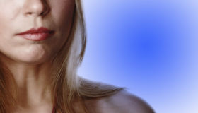 Teilweise Frau face-7 lizenzfreies stockfoto