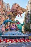 Teilweise konstruierte Fallas-Statue Lizenzfreie Stockfotografie