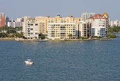 Teilweise Skyline von Sarasota, Florida Stockfotografie