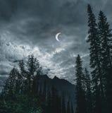 Teilweise Sonnenfinsternis vom 21. August 2017, von Quebec, Kanada lizenzfreies stockbild