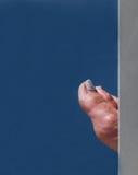 Teilweise versteckter Fuß Lizenzfreies Stockbild