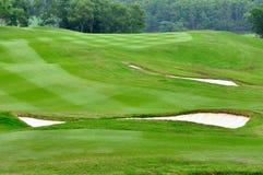 Teilweises Feld des Golfs Stockfotografie