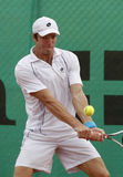 Teimuraz Gabashvili (RUS) return the ball Stock Images