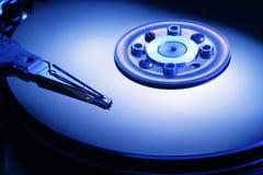 Teinte de bleu d'entraînement de disque dur Images libres de droits