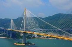 Teintez la passerelle de milliers d'UCI, Hong Kong photo libre de droits