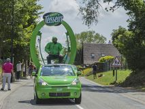 Teisseire有蓬卡车-环法自行车赛2015年 库存图片