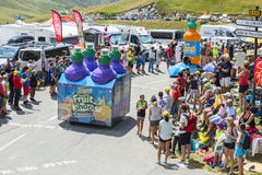 Teisseire Caravan in Alps - Tour de France 2015 Stock Photos