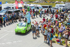 Teisseire Vehicle in Alps - Tour de France 2015 Stock Images