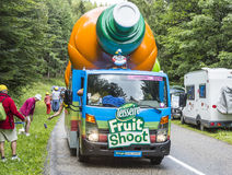 Teisseire Vehicle During Le Tour de France 2014. Col de Platzerwasel, France - July 14, 2014: Teisseire vehicle during the passing of the advertising caravan in Royalty Free Stock Image