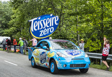 Teisseire Vehicle - Tour de France 2014. Le Markstein, France- July 13, 2014:Vehicles advertising Teisseire during the passing of the Publicity Caravan in front Royalty Free Stock Photo