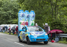 Teisseire Vehicle - Tour de France 2014. Le Markstein, France- July 13, 2014:Vehicles advertising Teisseire during the passing of the Publicity Caravan in front Royalty Free Stock Images
