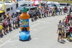 Teisseirevoertuig in Alpen - Ronde van Frankrijk 2015 Stock Afbeeldingen