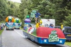 Teisseirevoertuig tijdens Le-Ronde van Frankrijk 2014 Royalty-vrije Stock Afbeeldingen