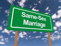Tej samej płci małżeństwa znak Fotografia Royalty Free