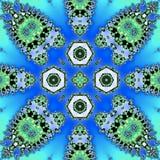 Teja abstracta de la mariposa en el color azul de neón ilustración del vector