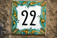 Teja de cerámica 22 del número Imagen de archivo