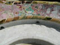 Teja de mosaico de cristal multicolora Fotografía de archivo