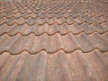 Teja de tejado verde Imagen de archivo libre de regalías