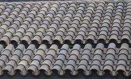 Teja de tejado verde foto de archivo
