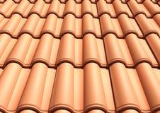 Teja de tejado verde Fotografía de archivo libre de regalías