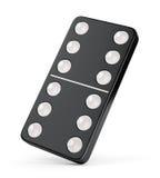 Teja del dominó con seis puntos Imagen de archivo