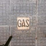 Teja del gas en la calzada de piedra, Montevideo Uruguay Fotografía de archivo libre de regalías