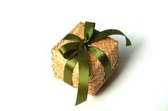 Teja el rectángulo de regalo de bambú Imagen de archivo