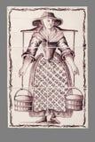 Teja holandesa del décimosexto al siglo XVIII imagen de archivo libre de regalías