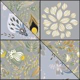 Teja inconsútil abstracta del patcwork con el ornamento floral árabe u o Imagenes de archivo