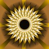 Teja integrada por rayas semitransparentes en estilo óptico del arte libre illustration