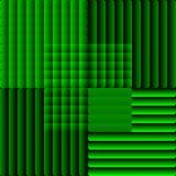 Teja integrada por rayas semitransparentes en estilo óptico del arte Bakcground decorativo del vector en verde libre illustration