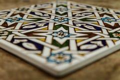 Teja marroquí del zellige de Marrakesh Fotografía de archivo
