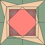 Teja original, geométrica y moderna ilustración del vector