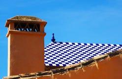 Tejado andaluz, Málaga, España Foto de archivo
