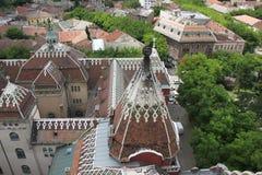 Tejado ayuntamiento en Subotica Imagen de archivo libre de regalías