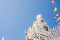 Tejado blanco del arte del templo Fotografía de archivo
