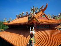 Tejado chino adornado del templo Fotografía de archivo