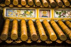 Tejado chino con los ornamentos Imagen de archivo