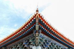 Tejado chino viejo elegante original del palacio Fotografía de archivo libre de regalías